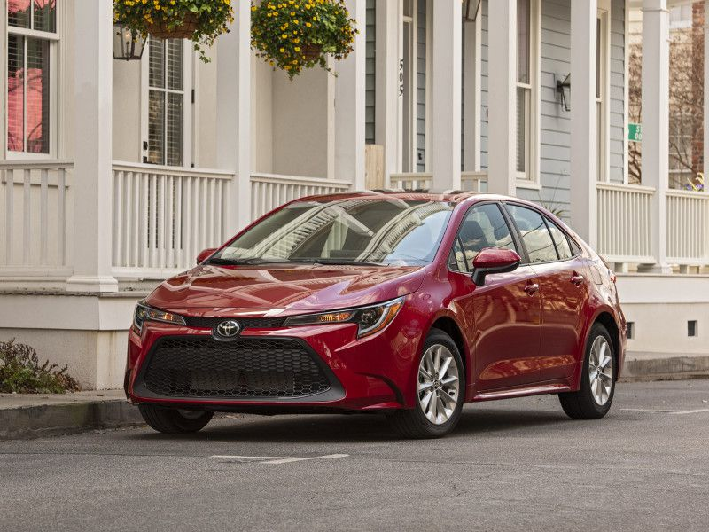 2020 Toyota Corolla LE Sedan red