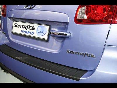Hyundai Santa Fe Blue Hybrid rear