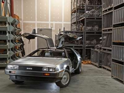 New DeLorean with doors open