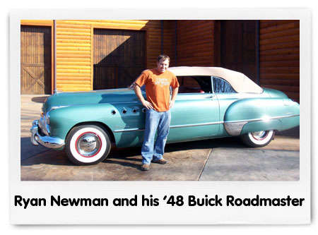 Ryan Newman and his 1948 Buick Roadmaster
