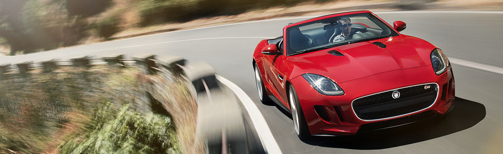 Not only can you go 0 to 60 in 5.1 seconds in the all new 2014 Jaguar F-Type, you can drop the top in about 12 seconds!