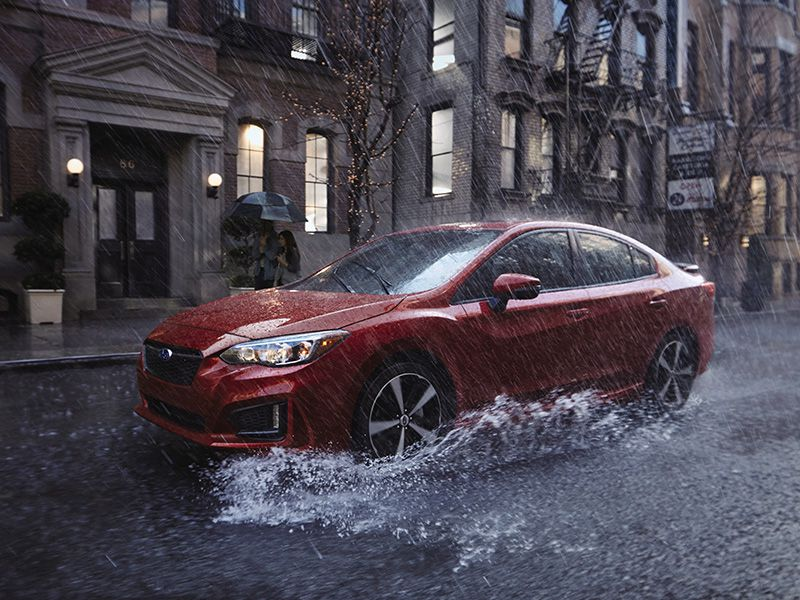 2017 Subaru Impreza Sedan 3 4 profile rain