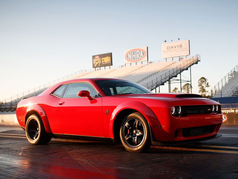 2018 Dodge Challenger SRT Demon exterior on track