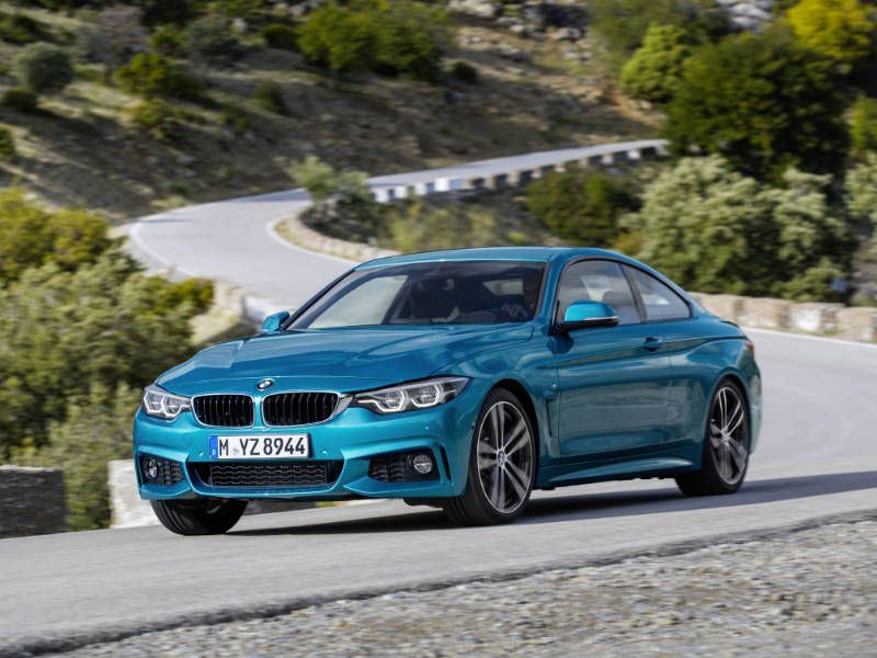 2017 BMW 4 Series Driving Quarter Curvy Road