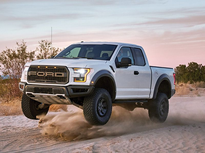 2017 Ford Raptor SuperCab catching air