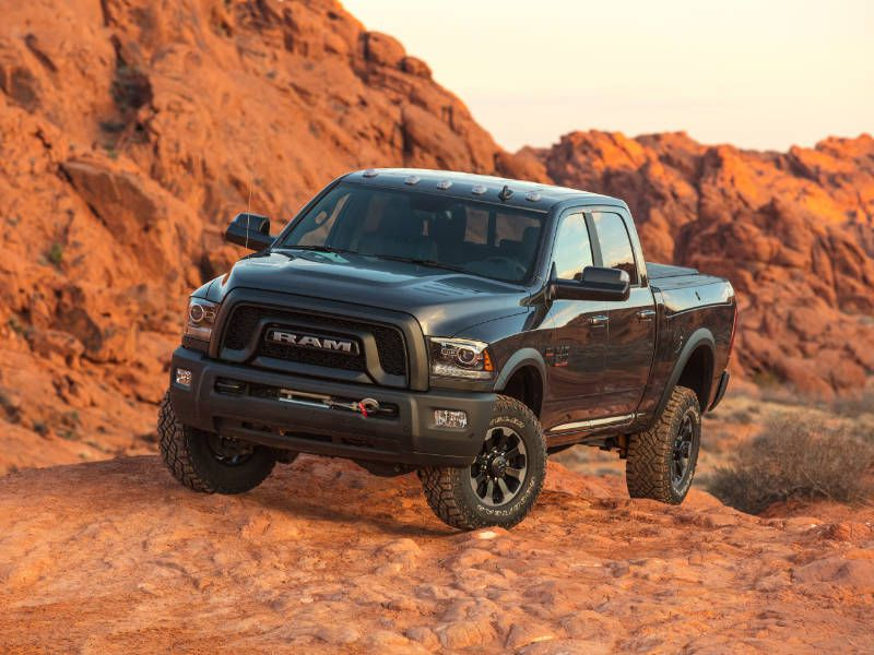 2017 Ram 2500 Power Wagon Front Quarter Rocks