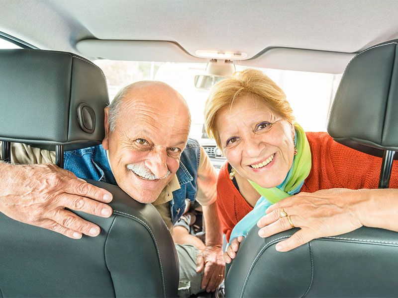 iStock senior couple in car