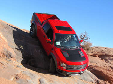 the 2012 ford f 150 svt raptor is designed to tackled off road obstacles