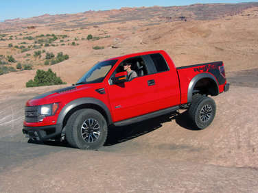 the 2012 ford f 150 svt raptor gains several improved trail features