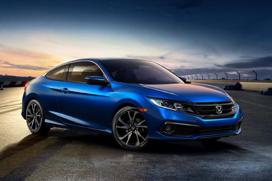 2020 Honda Civic Coupe blue parked 900x600