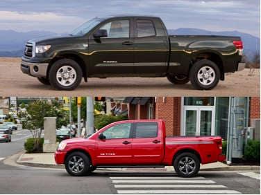 2011 toyota tundra vs 2011 nissan titan an import pickup battle royal. Black Bedroom Furniture Sets. Home Design Ideas