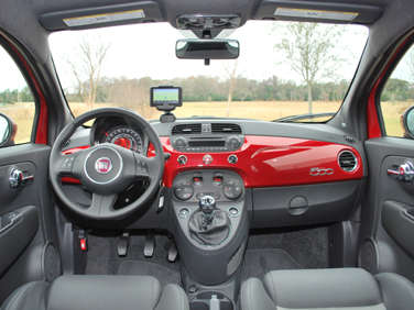 Captivating 2012 Fiat 500 Sport Review: Interior