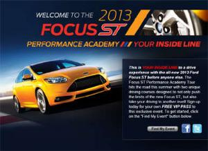 Five Cities to Host Ford Focus ST Performance Academy