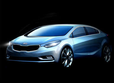 2014 Kia Forte Teased in Official Sketches