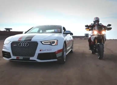 Audi RS 5, Ducati Multistrada Tackle Pikes Peak to Promote Ultimate Ride & Drive Contest