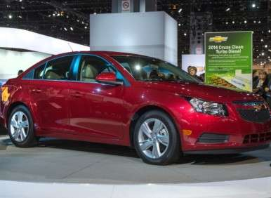 2014 chevy cruze clean turbo diesel to launch at 25 695. Black Bedroom Furniture Sets. Home Design Ideas