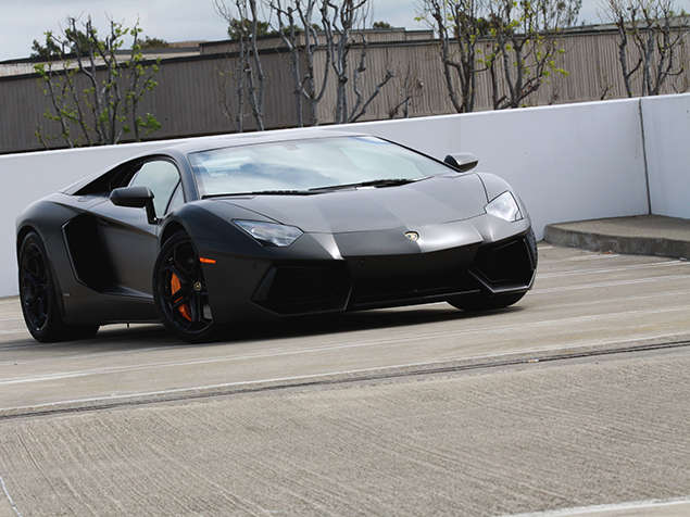 2013 Lamborghini Aventador LP700-4 with Matte Paint Job Photo Gallery