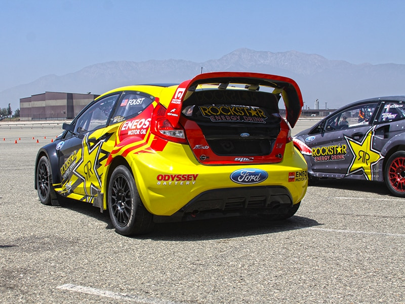 Ford Global Rallycross demo day before Xgames Los Angeles 2013