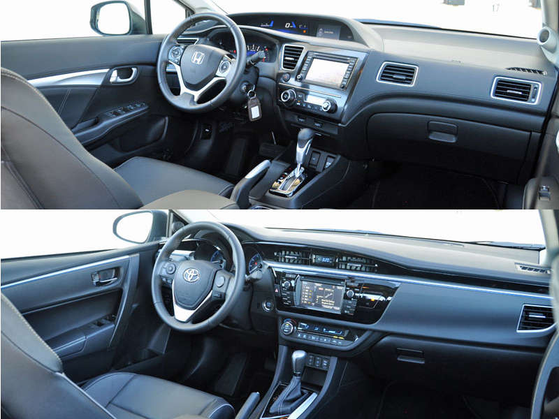 Back 2 Back Comparison: Honda Civic Vs. Toyota Corolla    Interior And  Comfort