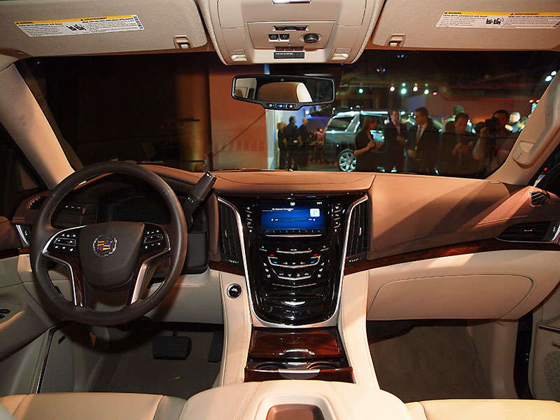 Land Yacht, Now With More Shine: 2015 Cadillac Escalade Unveiled In New  York City | Autobytel.com