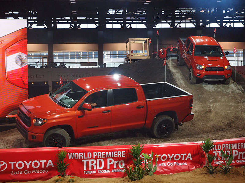 TRD Pro Series Toyota Tundra, Tacoma, and 4Runner Preview: 2014 Chicago Auto Show
