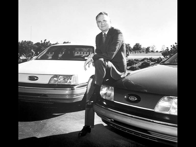 Seen Here With Harold Red Poling Ford Chairman Ceo From   The First Generation Taurus Was Developed By Interior And Exterior Teams Working