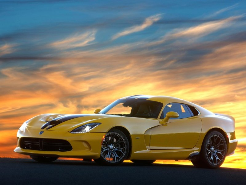 2014 dodge srt viper yellow