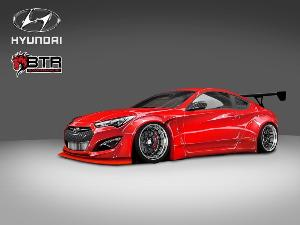 2014 Hyundai Genesis Coupe Shows the Right Type of SEMA Style