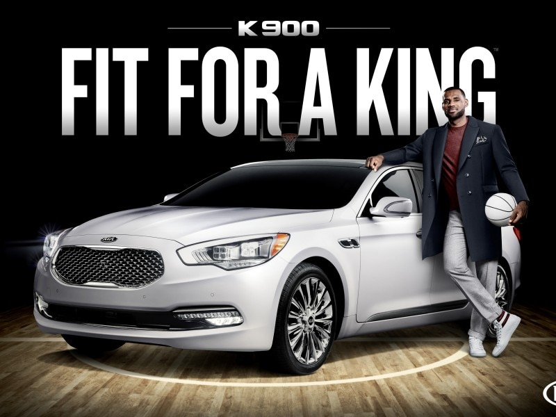 King James Connects with 2015 Kia K900