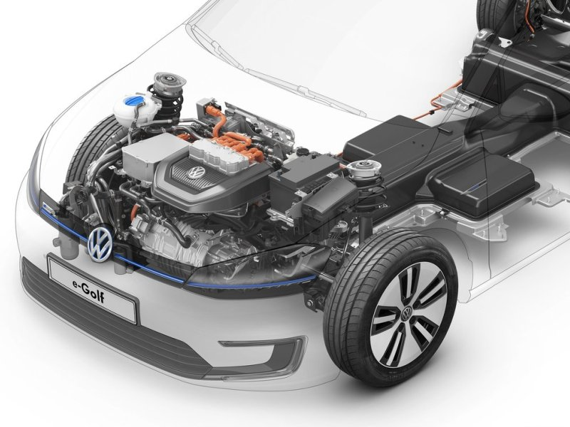 The 2017 Volkswagen E Golf Comes With A Lithium Ion Battery