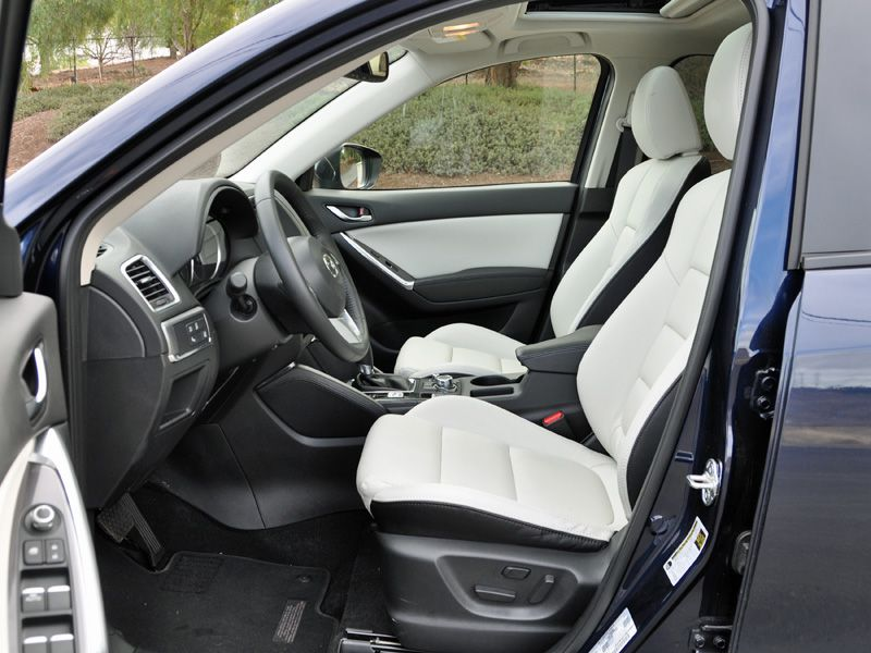 Small Snug Yet Functional Interior Among Compact Crossover Suvs The Mazda Cx 5