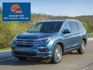 10 Reasons Why the 2016 Honda Pilot is the 2016 Autobytel Truck of the Year