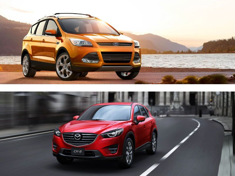 ford escape vs mazda cx 5 which is best. Black Bedroom Furniture Sets. Home Design Ideas