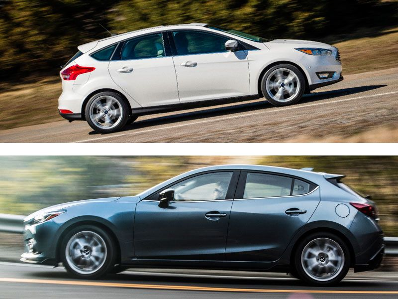 ford focus vs mazda mazda 3 The mazda3 or mazda 3 is a compact car manufactured in japan by mazda it  was introduced  the mazda3 is based on the ford global c1 platform, shared  with the latest european ford focus and volvo s40 previewed by the mx-sportif  concept car, the.