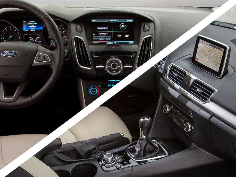 Focus Vs. Mazda3: Interior Design And Capacities