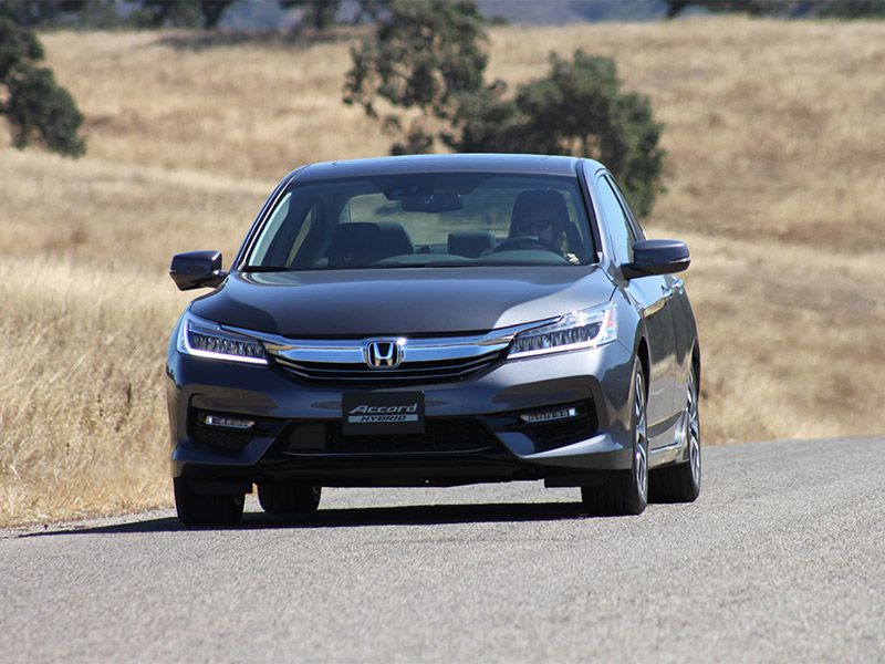 2017 Honda Accord Hybrid with driver
