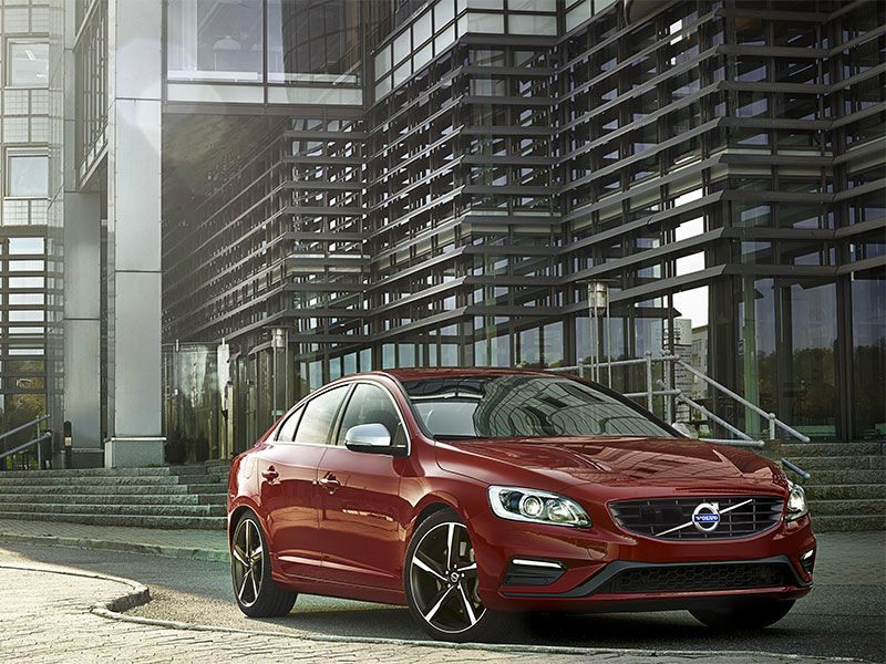 2016 Volvo S60 red parked