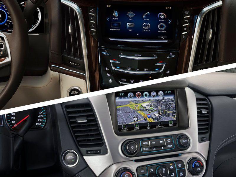 2017 Cadillac Escalade Vs Gmc Yukon Denali Interior Design