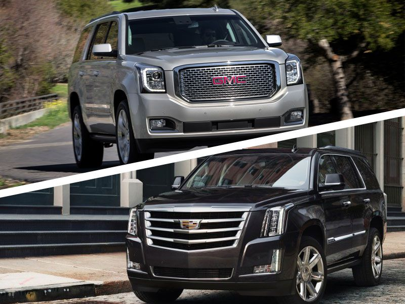 2017 cadillac escalade vs 2017 gmc yukon denali which is best. Black Bedroom Furniture Sets. Home Design Ideas
