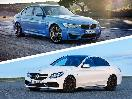 2017 BMW M3 vs 2017 Mercedes AMG C63 exterior front angle