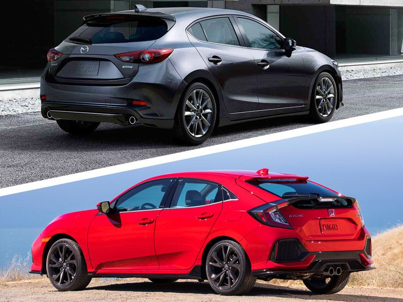 2017 honda civic vs 2017 mazda3 which is best for Used 2017 honda civic