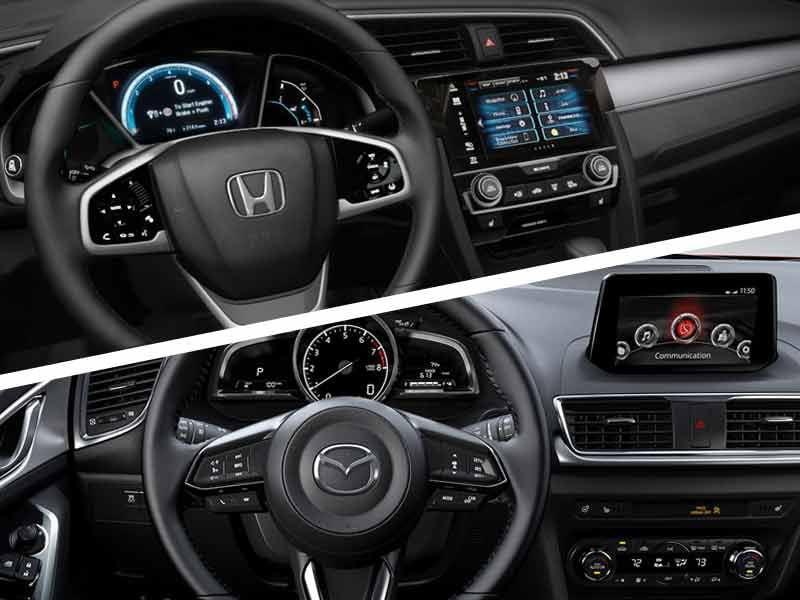 Civic Vs Mazda3 Interior Design