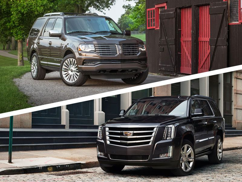 2017 cadillac escalade vs 2016 lincoln navigator which is best. Black Bedroom Furniture Sets. Home Design Ideas