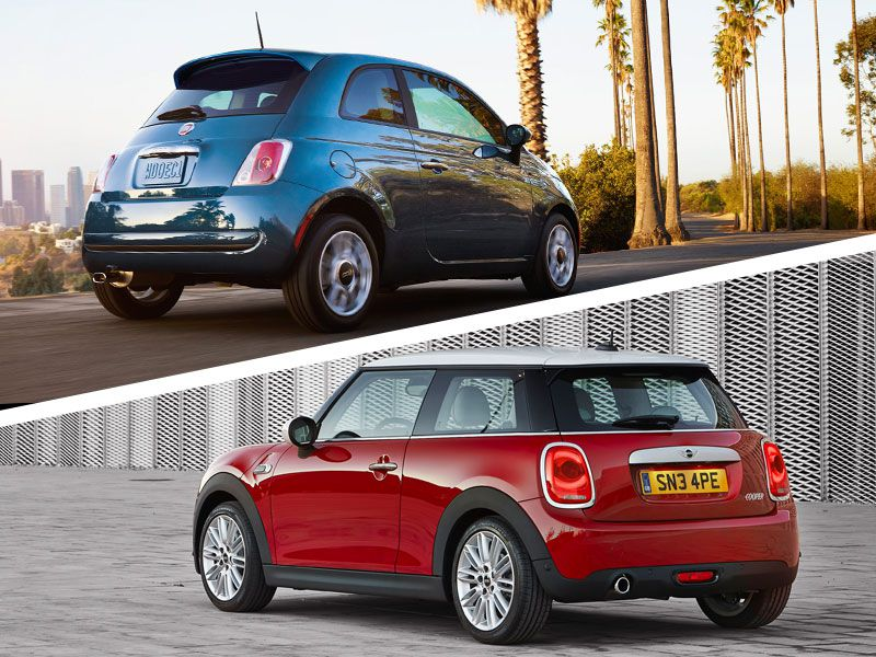 Mini Cooper Vs Fiat 500 Exterior Design