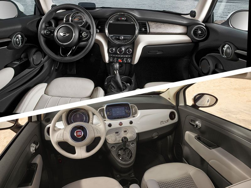 Mini Cooper Vs Fiat 500 Interior Design