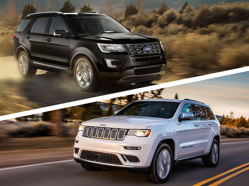 2017 Jeep Grand Cherokee Vs Ford Explorer Which Is Best