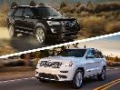 2017 Ford Explorer vs 2017 Jeep Grand Cherokee exterior on road