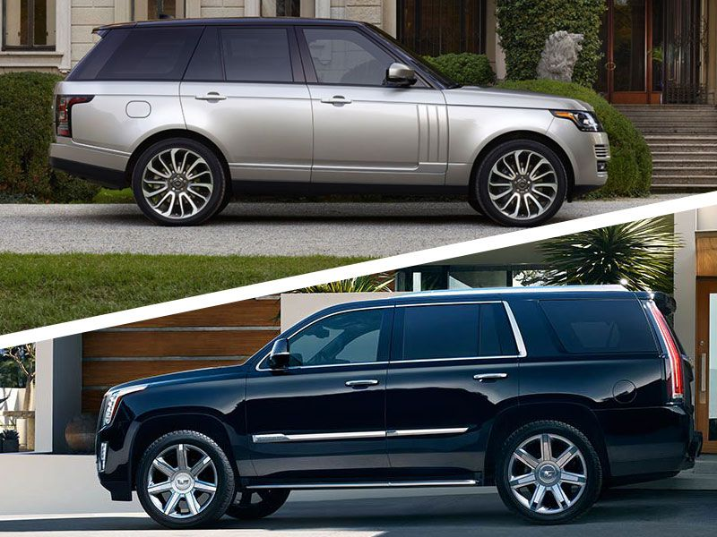 Range Rover Vs Land Rover >> 2017 Cadillac Escalade Vs 2017 Range Rover Which Is Best