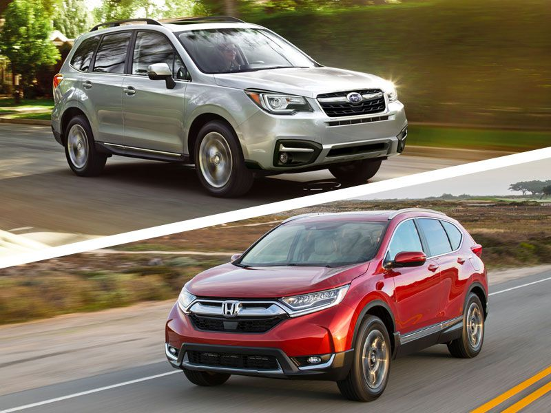 Autobytel s 10 best compact suvs and crossovers for Honda crv vs subaru forester