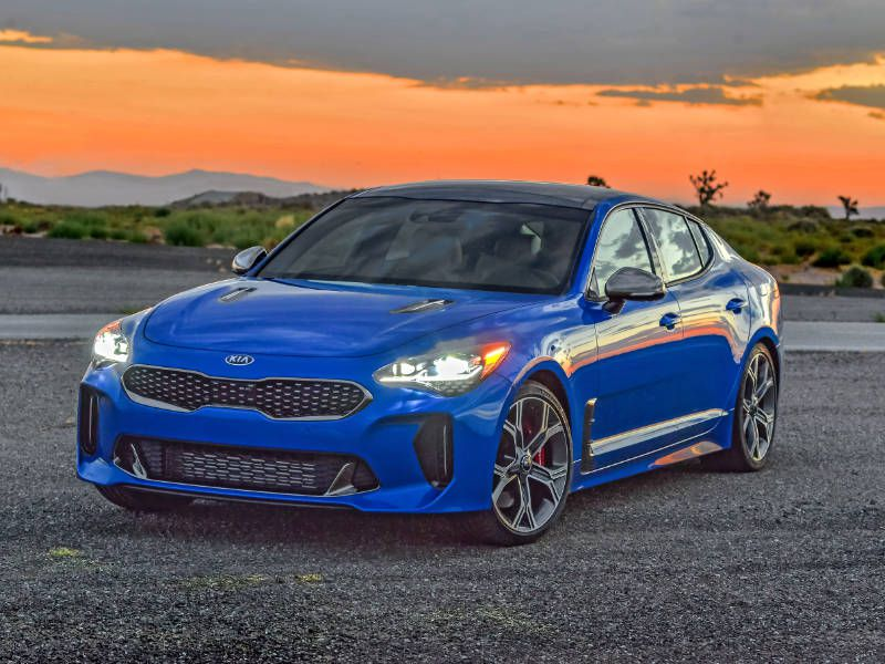 2018 Kia Stinger blue hero